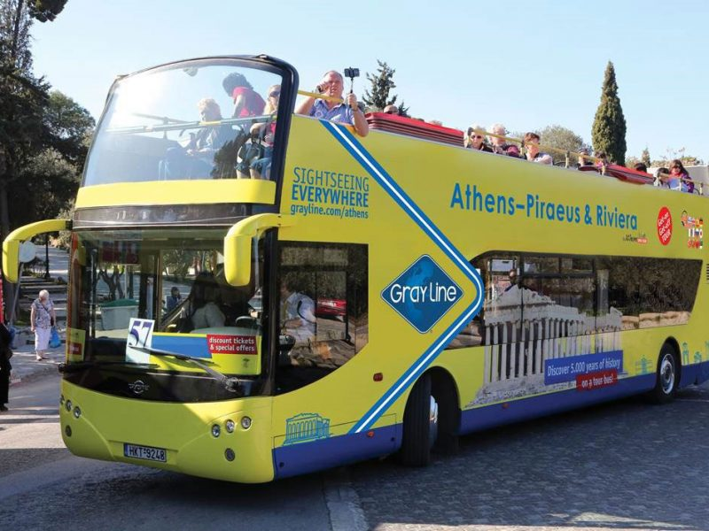gray line By Athens Open Tour Get on Get off buses